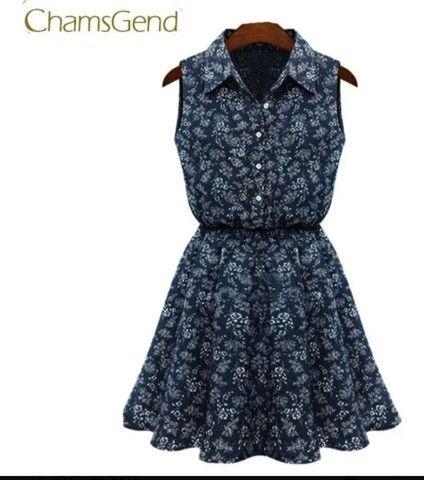 Vestido de algodão ñ amarrota