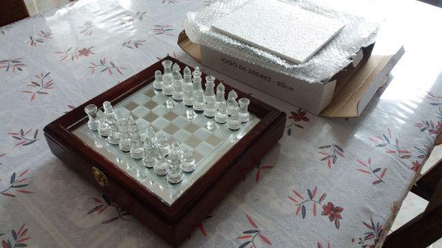 Jogo de xadrez, NOVO, em vidro - Foto 6