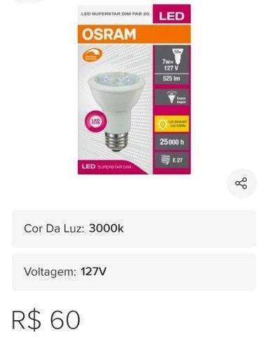 Vendo 21 lâmpadas de Led PAR20 - Foto 3