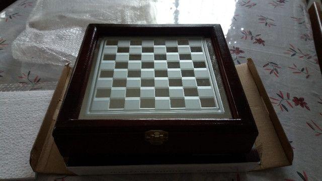 Jogo de xadrez, NOVO, em vidro - Foto 4