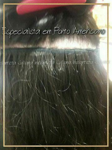 Mega hair, ponto americano,  entrelace, fita adesiva nó italiano  - Foto 5