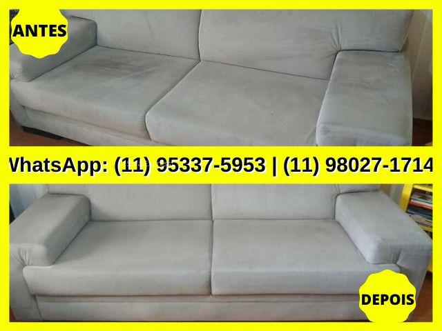 Limpar Sofá   Limpeza de Sofá   Higienização de Sofá   Estofado Limpinho   Sofá Limpo - Foto 5