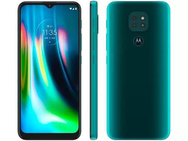 Smartphone Motorola Moto G9 Play 64GB Verde<br><br> - Foto 3