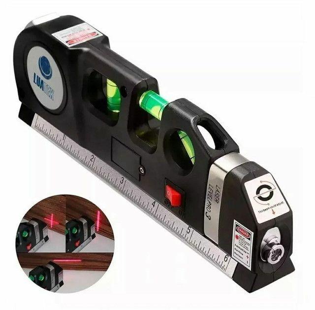 Nível Laser Profissional Trena Level Pro3 Estágios Nivelador - Foto 3