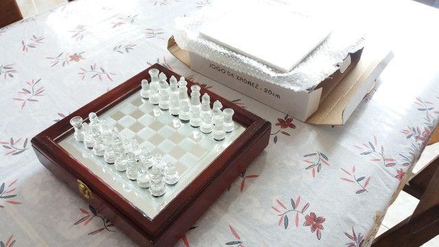 Jogo de xadrez, NOVO, em vidro