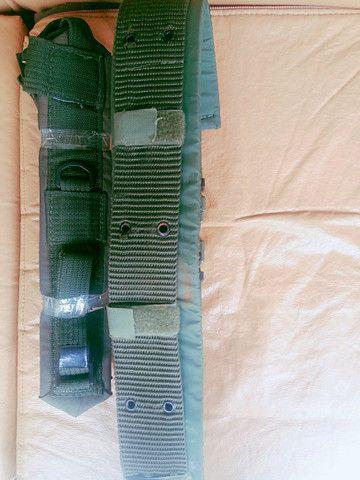 Kit Suspensório Verde Oliva + Cinto N.A + Protetor de cinto N.A - Foto 2
