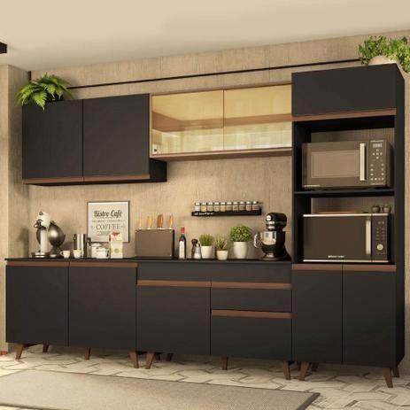 Realize seu sonho!! Cozinha Completa Madesa Reims 310001 com Armário e Balcão