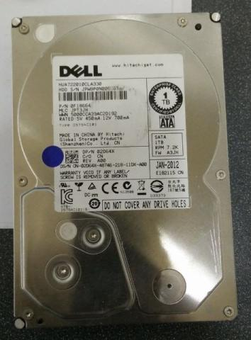 Hd Dell Enterprise 1 TB 7.2k Sata 3,5