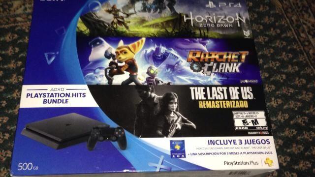 PS4 slim (garantia de 1 ano + 3 jogos mídia física)