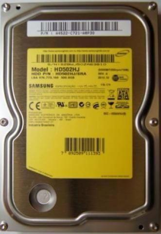 Disco Rígido Hd 500gb p/Pc Computador Western Seagate Samsung Entrego Parcelo Entrego Dvr
