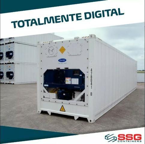 Container Frigorífico 40 pés Refrigerado Câmara Fria 12 metros Conteiner usado aço inox - Foto 3
