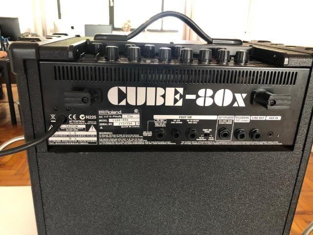 Cubo Amplificador Profissional Roland Para Baixo Cube-80X - Foto 4