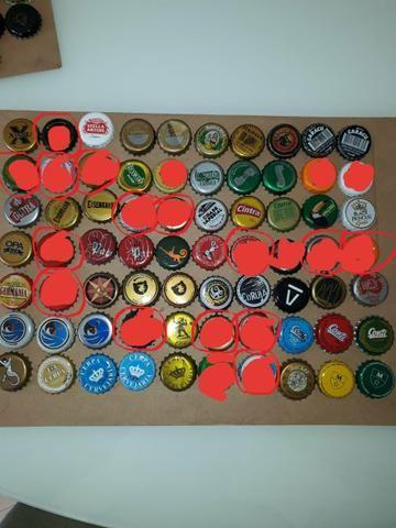 Lote tampinhas cervejas diversas para colecionador