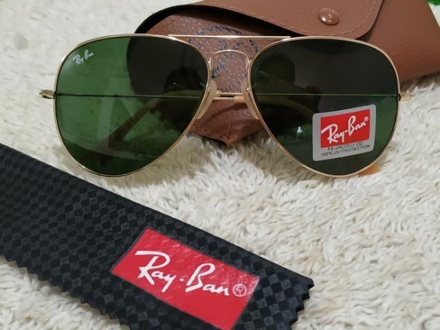 Óculos Ray Ban Aviador dourado ) - Bijouterias, relógios e ... e789cec4f6