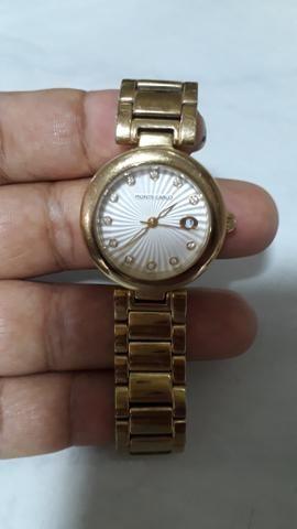 787dc0e5af1 Relógio Monte carlo feminino dourado - Bijouterias