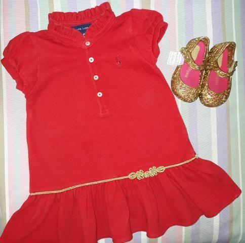 Vestido Ralph Lauren tam 18 meses + mini Melissa - Roupas e calçados ... 5880a747bb2