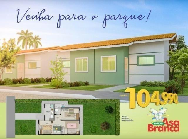Residencial Parque Asa Branca - Casas 2/4 com laje - Apenas RS 1,000,00 de Entrada