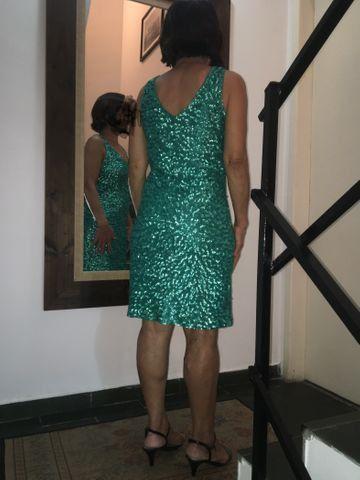 Vestido tubinho PAETÊ( Verde Esmeralda ) - Foto 2