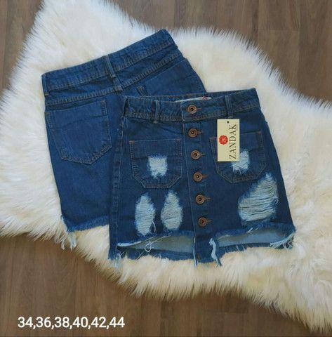 Shorts jeans e saias jeans - Foto 5