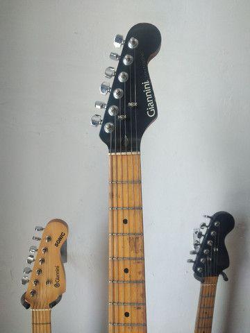 O F E R T A!!! Guitarra Giannini Stratosonic 1990. Aceito trocas e cartão de crédito  - Foto 3