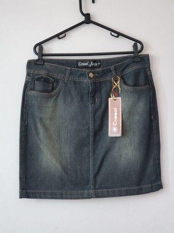 Saia Jeans Crissol - Foto 2