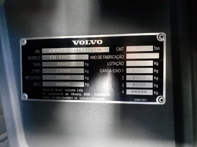 Volvo Fh 440 Ano 2011 6x2 Único Dono - Foto 20
