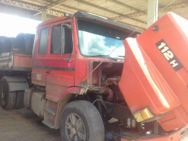 Scania 112h engatado carreta khronne 88