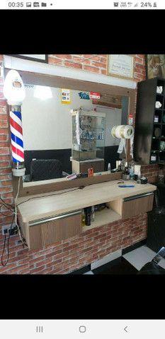 Bancada para salão ou barbearia