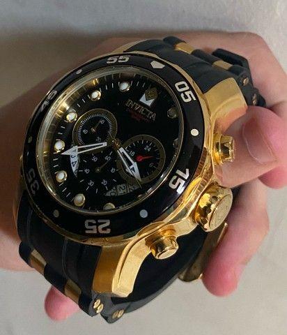 Relógio Invicta Pro Diver 6981 Ouro 18k - Foto 4