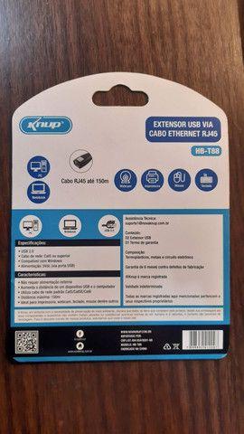 Adaptador extensor USB via cabo de rede RJ45 - Foto 5