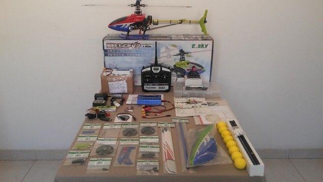 """Helicóptero Belt CP V2 - """"Super Completo"""" - (*Com todo meu Hobby). - Foto 6"""