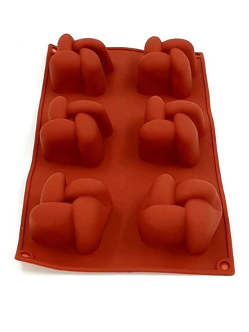 Forma de silicone com molde 3D de Marshmallow cor Marrom para bolo e cup cake