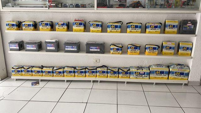 Bateria moura 40ah garantia 18meses a base de troca entrega  - Foto 6