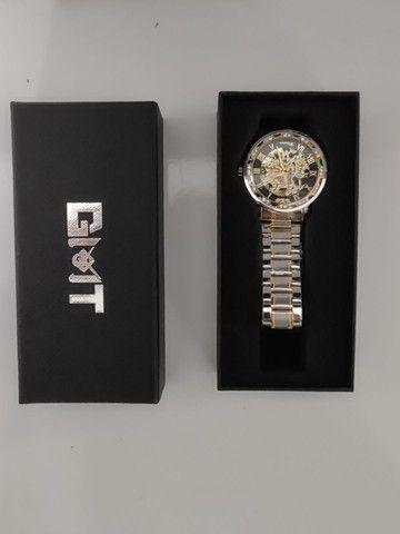 Relógio Winner Automático Engrenagem Luxo - Foto 6