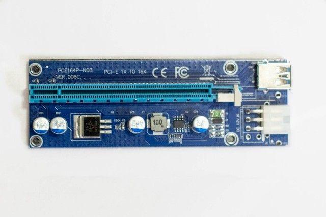 Cabo Riser PCI-e adaptador para mineração c/garantia  - Foto 4