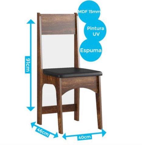 Conjunto Mesa 4 Cadeiras Sonetto - Foto 4