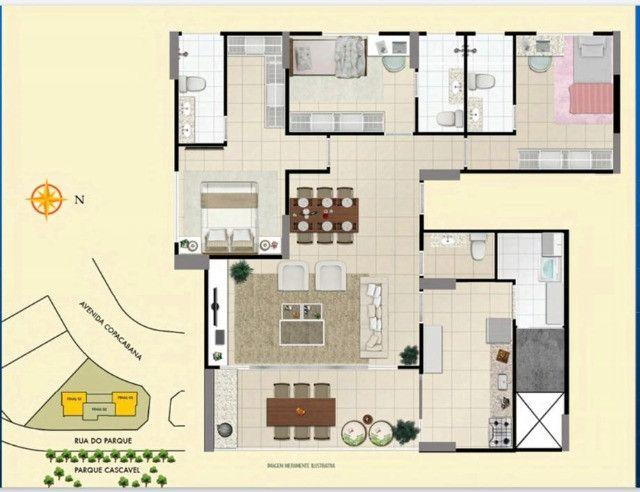 Apartamento de 3Q em frente ao parque- 114 - Foto 5