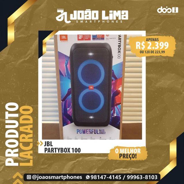 JBL PARTYBOX 100, LACRADO, NF, GARANTIA