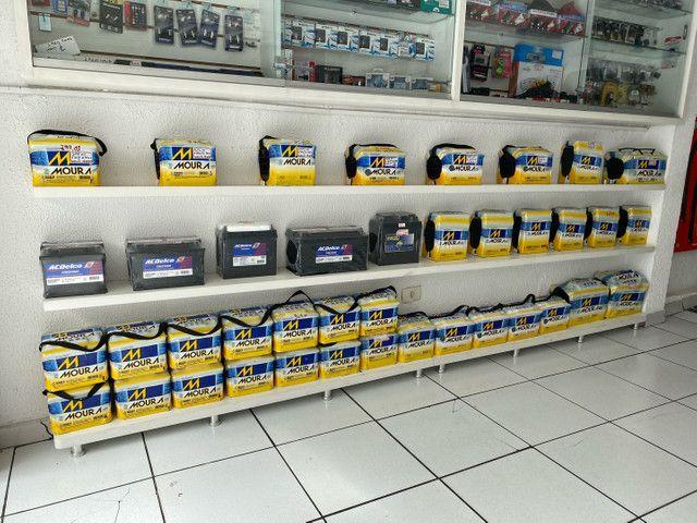 Bateria moura 40ah garantia 18meses a base de troca entrega  - Foto 2