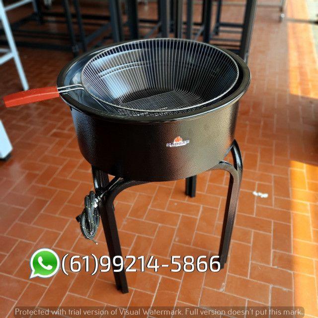 Fritadeira 14 Litros Esmaltada Pasteleiro a gás Progás