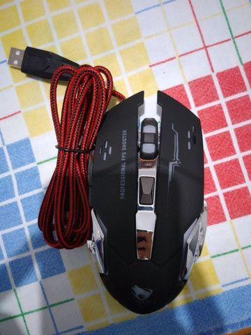Mouse Gamer 6 Botões Professional USB RGB Novo Lacrado!!! - Foto 6