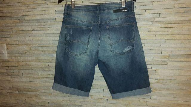 bermuda jeans    Marca HANGWAY  tamanho 42 - Foto 2