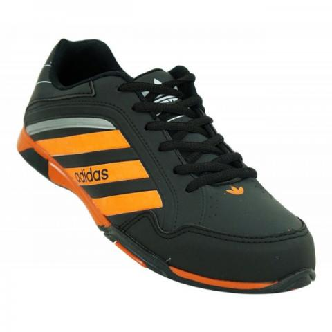 Tênis Masculino Adidas F900 Preto e Laranja