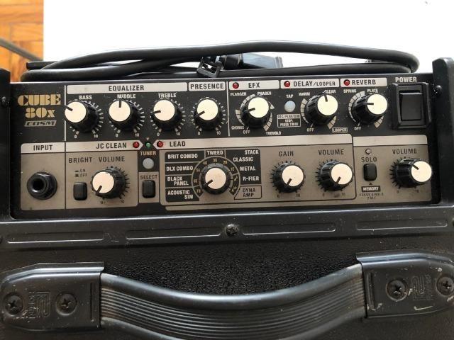 Cubo Amplificador Profissional Roland Para Baixo Cube-80X - Foto 3