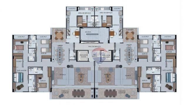 Apartamento com 3 dormitórios à venda, 122 m² por R$ 924.230,00 - Casa Forte - Recife/PE - Foto 9