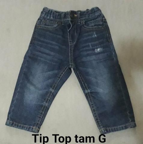 879f05d53 Duas Calças e Uma Camisa Jeans Bebê - Artigos infantis - Cj Res G ...