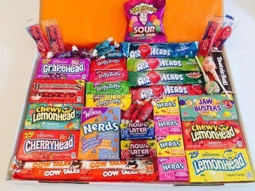 (R$ 120,00) Caixa surpresa de doces e snacks americanos (EUA) variados
