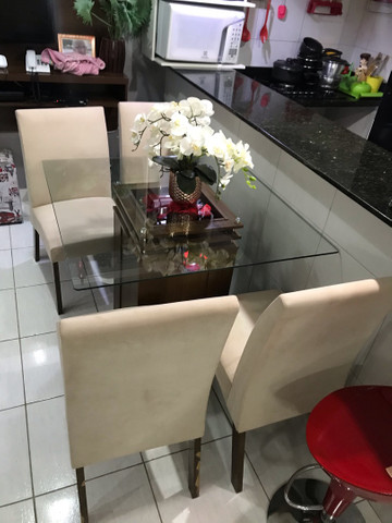 Vende mesa 4 cadeiras  - Foto 4
