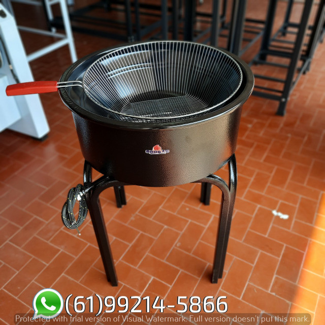 Fritadeira 14 Litros Esmaltada Pasteleiro a gás Progás - Foto 2