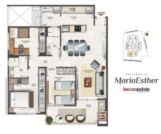 (AG) Apartamento com 3 dormitórios, sendo 01 suíte, 2 vagas no Estreito  - Foto 20